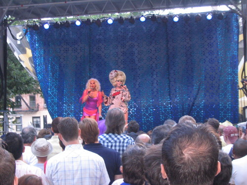 Sherry Vine and Lady Bunny